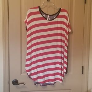 Red, White, and Blue plus size tunic